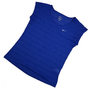 NIKE DRI-FIT blue stripped top